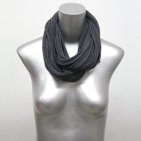 Gray Cowl Scarf, Infinity Scarf, Charcoal Gray Scarf, Charcoal Gray Infinity Scarf, Gray Infinity Scarf, Gray Winter Scarf, Gray Loop Scarf