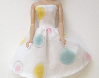 Handmade Barbie Clothes Fashionistas Basics LIV Strapless Dress
