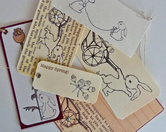 Digital download stamp set Gardening Bunny