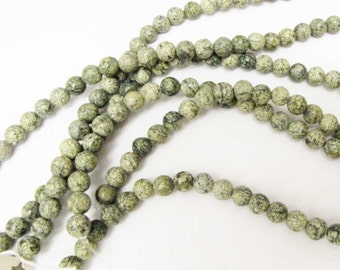 Magnesite Beads Green 5mm round 15 inch strand Bead Necklace Bracelet Jewelry Supply #125