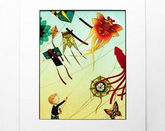 8x10 Print - Kite Boy - Color Fine Art Print