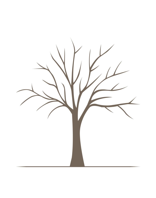 DIY Fingerprint Tree Poster Instant Download Medium