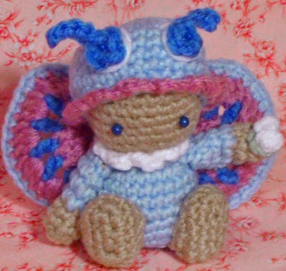 Crochet Pattern Amigurumi doll butterfly schmetterling