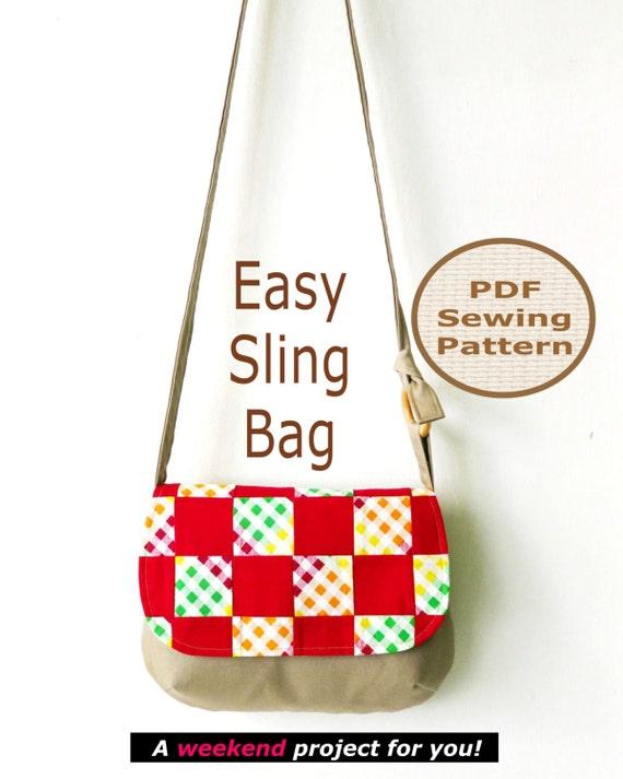 Sling Bag Pattern Easy sling bag instant