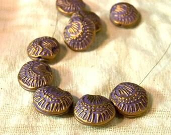 Handmade Poppy Beads in Lavender/Purple