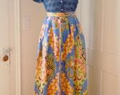 printed silk skirt XXS