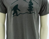 Oregon Bigfoot. Men's regular T Shirt. sasquatch. Art by MATLEY. Tall and Big sizes up to 5XL. Yetti. Portland. Gift for him and her. Unisex
