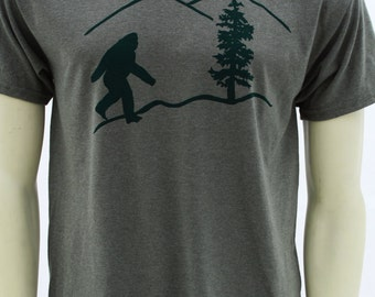 Tall Sizes | Oregon Bigfoot | Men's classic T shirt | sasquatch | Art by MATLEY | Yetti | Portland. Great gift ideas | Tall Large - 3XLT.