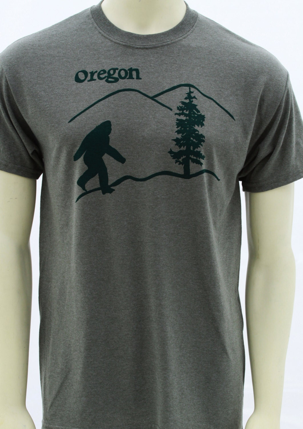 oregon bigfoot men 39 s regular t shirt sasquatch art by