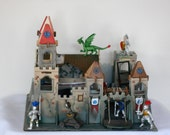 Scale Castle Border Guards Fighting Dragons Miniature Wooden Diorama