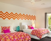 Chevron Wall Decal, Geometric Wall Decal, Chevron Wall Pattern, Geometric Dorm Decor, Zig Zag Wall Decal, Modern Wall Art, Interior Decor