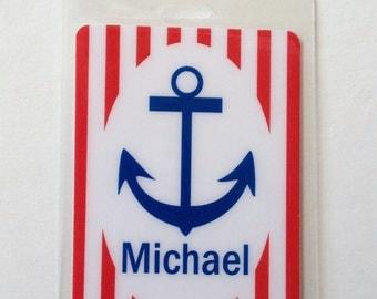 Nautical Bag Tag Nautical Baby Shower Favor Nautical Name Tag Nautical Party Favor Nautical Gift Tag Anchor Bag Tag Nautical Diaper Bag Tag