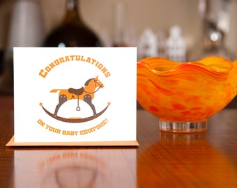 Ride Em Cowpoke - New Baby Card on 100% Recycled Paper