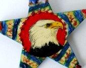 Handmade Eagle Ornament Sharp Eyed Hunter Shaman Healer Patriot 4th of July Mascot