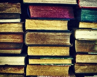 Fine Art Photograph - Square - Vintage Books - Wall Art