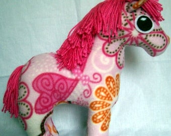 Customizable Pony Plush - choose your own colors and patterns