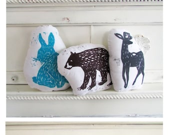 SALE 25% OFF. You pick any 3 Hand Block Printed Pillows. Choose ANY 3 Designs in any Colors.