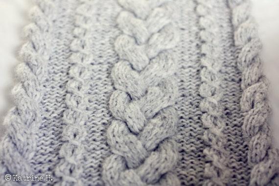 Braided Cowl Knitting Pattern : Knitting Pattern Braided Infinity Scarf Cowl by silverishmoon