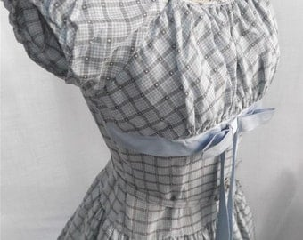 Amazing Late1940's early 1950's Cotton Gingham Day Dress by Betty Lou
