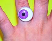 Purple Google Eye Ring