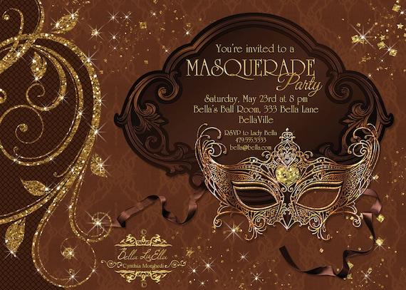 Masquerade Party Invitation Mardi Gras