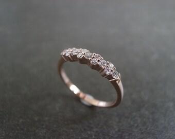 Diamond Wedding Ring in 14K Rose Gold