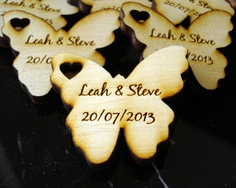 Wood Butterfly Wedding Favors 125 pieces Butterflies  Butterfly Favors  Woodland Fantasy Wedding