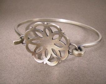 Medallion Bangle Bracelet