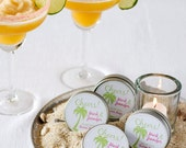 Destination wedding favor | Colored gourmet margarita salt| 50 personalized party favors - beach wedding | Edible party favor | Salt rimmer