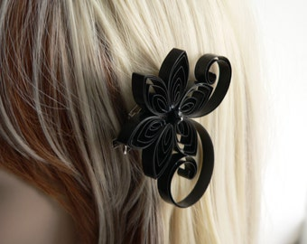Black Wedding Hair Clip, Black Wedding Hair Accessory
