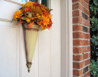 Fall Floral Wreath, Fall Door Wreaths, Autumn Wreath, Thanksgiving Wreaths, Harvest Wreath, Fall Wreath, Seasonal Fall Decor, Outdoor Wreath