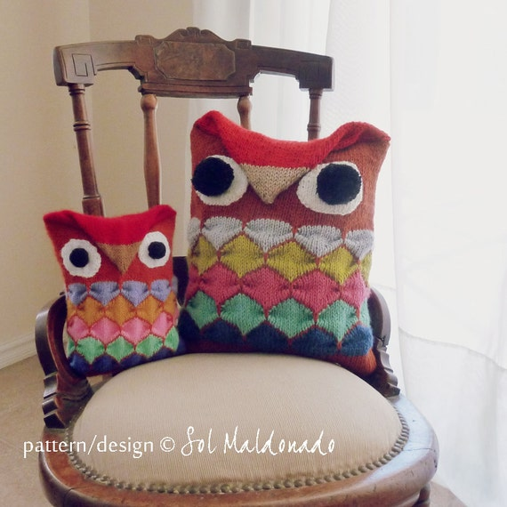 Animal Pillows Toys R Us : Items similar to Owl Pillow Knitting Pattern PDF - Amigurumi toy & animal Pillow - Instant ...