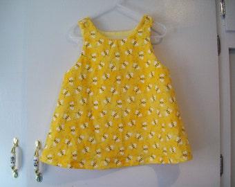 Sundress, Bumble Bee, Dress, Jumper, Sundress, Sizes 1/2T to 4T