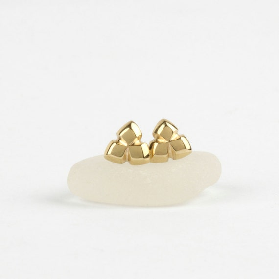 small gold stud earrings 14k solid gold earrings tiny