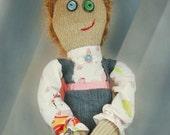 Fabric Doll, Handmade Doll, Cloth Doll, OOAK
