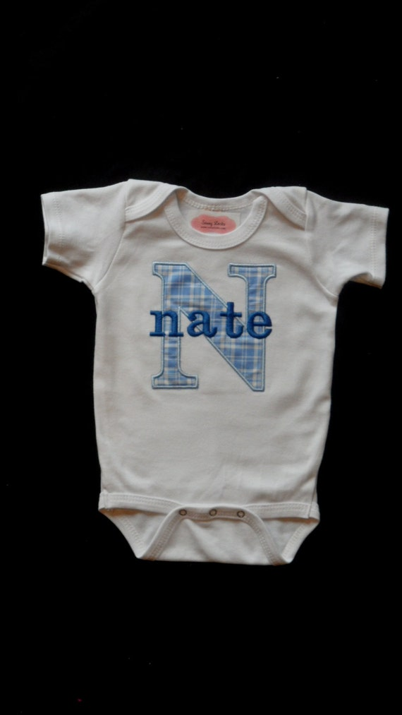 Personalized Baby Boy Clothes Take Home Outfit by sassylocks
