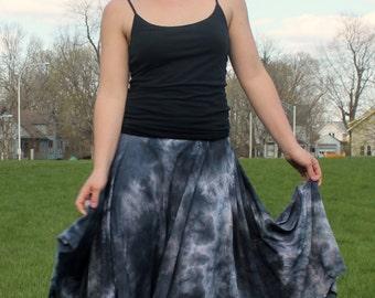 Organic  pixie skirt asymmetrical gypsy tie dye clothing S, M, L