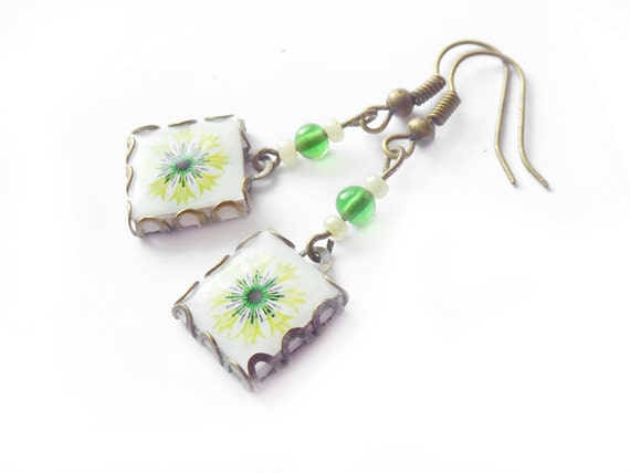 Springtime Scandinavian  flower.Lime and green, fresh green,