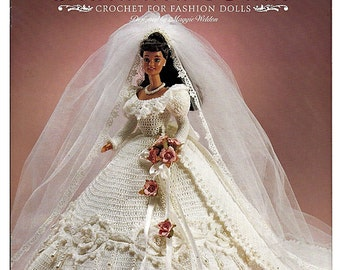 Enchanted Bride Crochet Pattern for Fashion dolls