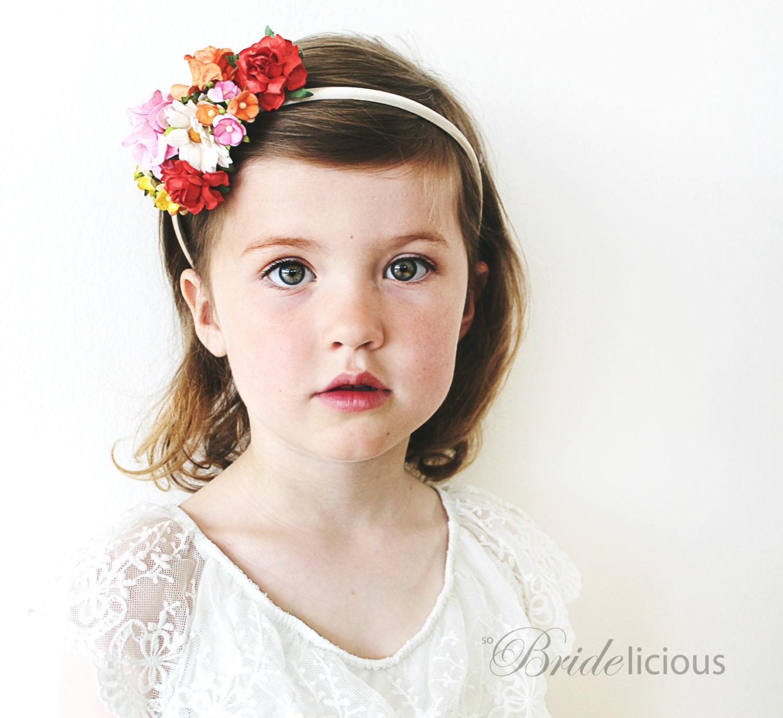 My Darling Rose flower girl hair band cute folklore hair