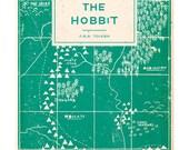 The Hobbit - Book Cover Illustration Art Print - A4