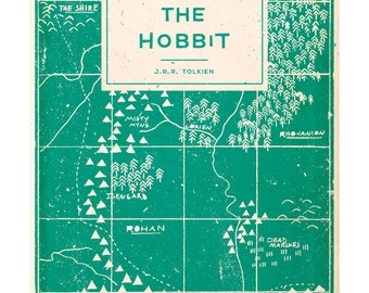 The Hobbit - Book Cover Illustration Art Print - A3