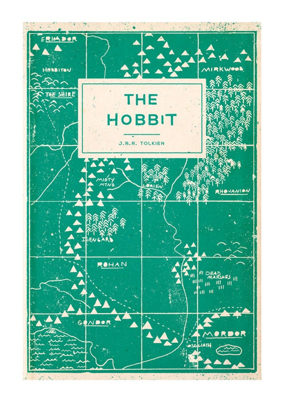 Hobbit Book Cover Art ~ Unavailable listing on etsy