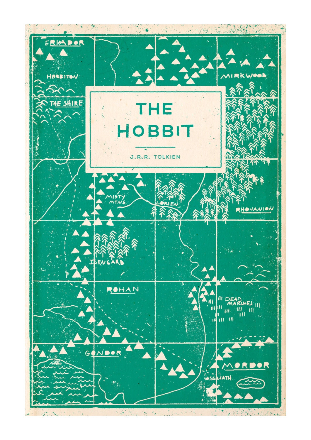 Book Cover Illustration Search : The hobbit book cover illustration art print a by buzzstudios