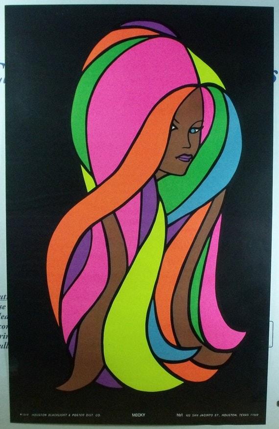 Vintage Blacklight Poster 1969 Mecky Original by ...