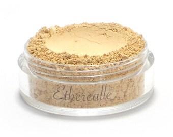 "Vegan Mineral Foundation Powder - Delicate - ""Cake"" (light shade with yellow undertone) Large Net wt 7g Jar"