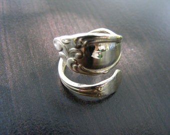 15% Off Sale.S131 Made to Order...New Sterling Silver Antique Style Spoon Ring