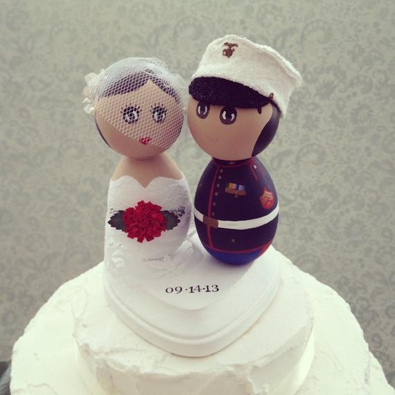 Custom Wedding Cake Topper Military Marine Corps
