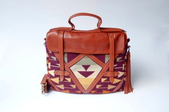 ON SALE, Leather and Pendleton laptop, messenger bag,