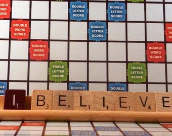I Believe Scrabble Sign or Nameplate Made to Order
